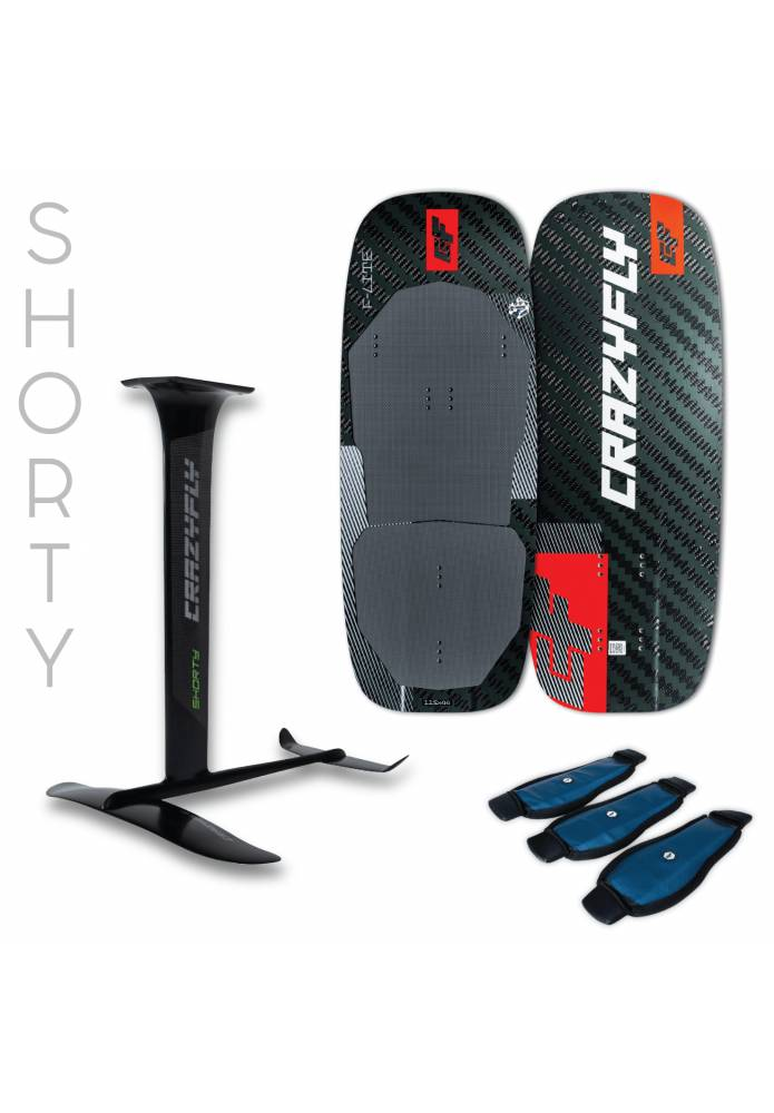 Pack Kitefoil Carbone Crazyfly F-Lite + Shorty Foil - CrazyFly