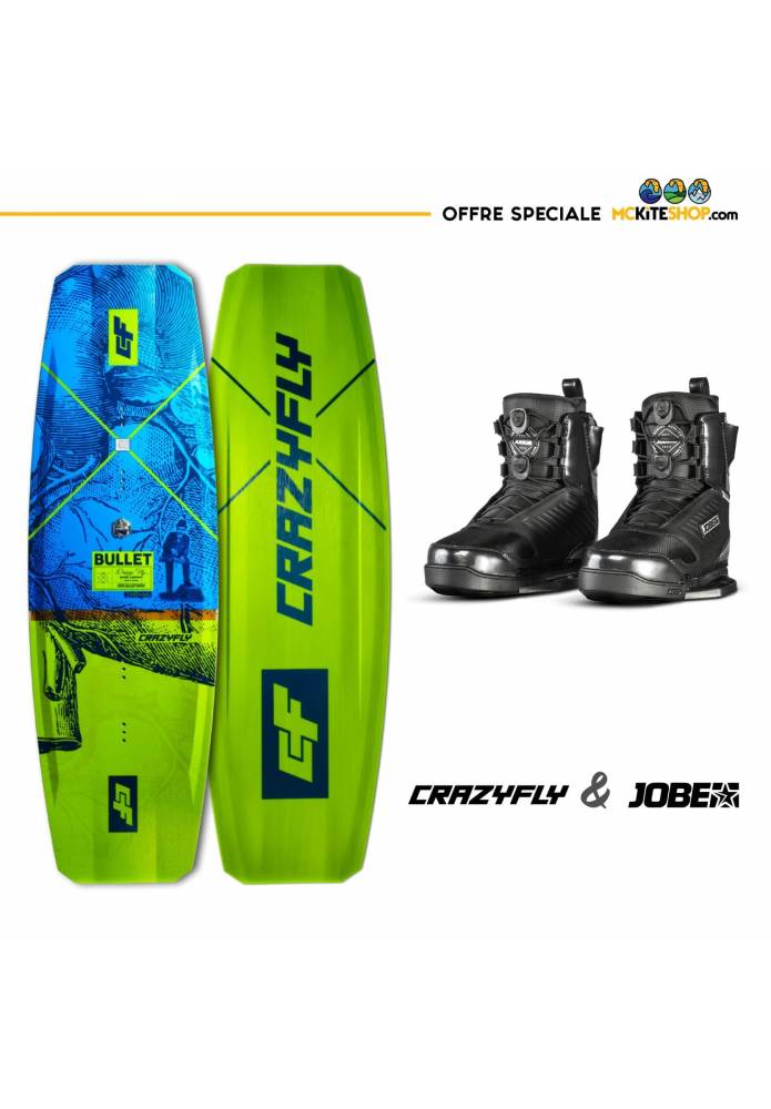 Pack Wakeboard pour Cablepark Crazyfly Bullet + boots Jobe