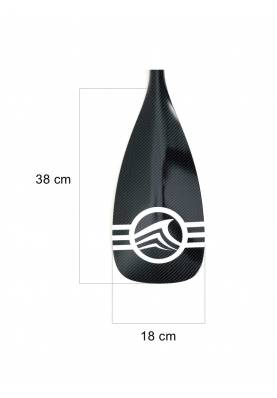 Pagaie Stand up Paddle Sroka 50% carbone, pale Plastique 2-3