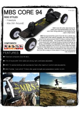 Mountainboard MBS Core 94 - MBS Mountainboard